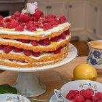 Raspberry & Lemon Curd Layered Sponge Cake