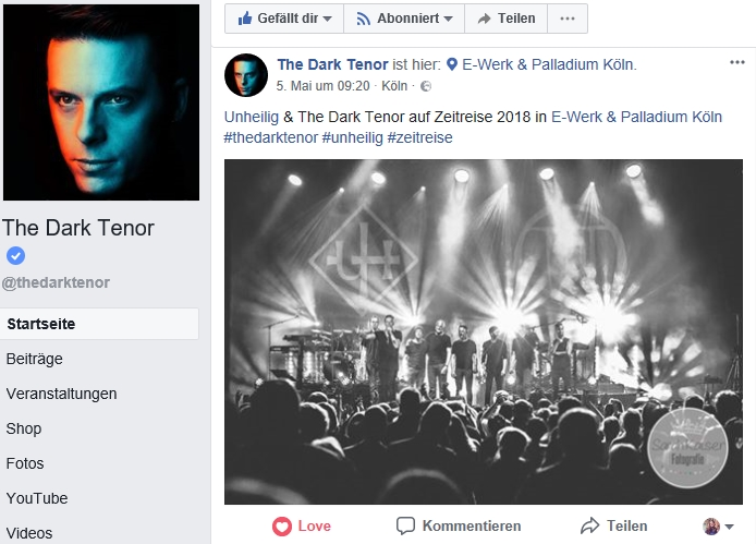 The Dark Tenor  FacebookInstagram Post  Sarah Kaiser