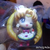 Close up of Super Sailor Moon figure.