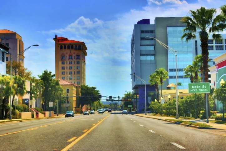 Downtown Sarasota.