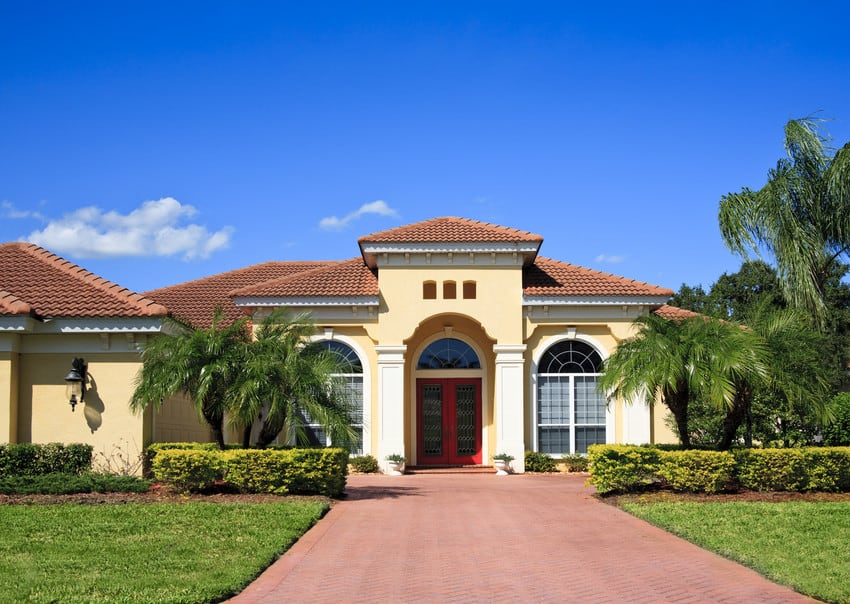 Two-story Florida home.