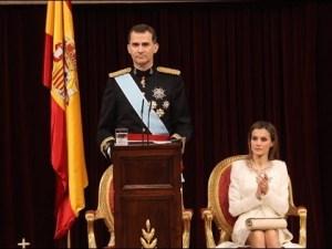 Discurso Rey Felipe VI a las Cortes Generales