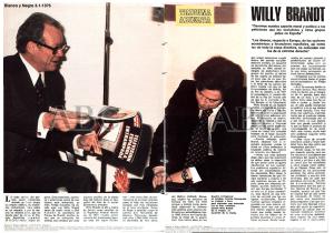 Entrevista de Antxón Sarasqueta a Willy Brandt publicada en enero de 1976