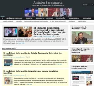 Imagen de otra de las webs de Antxón Sarasqueta