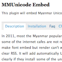 Font Embed problem in Unicode