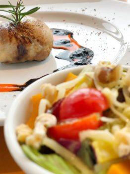 秋の味覚サラダ