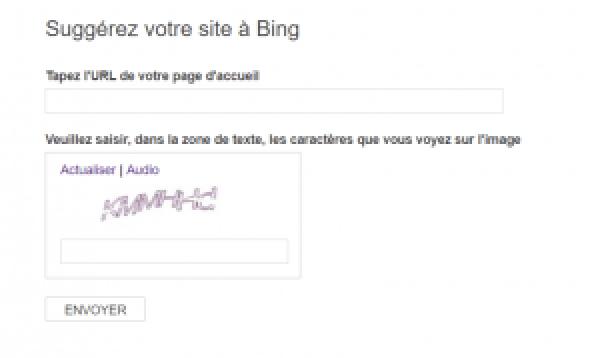 soumettre son site à Bing