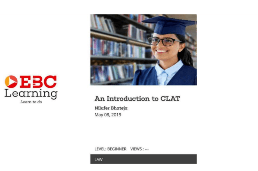 c2d294205de1 CLAT preparation guide in a visual form is streaming now on EBC Learning