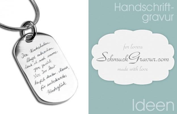 Handschriftgravur  Schmuck Gravur Blog