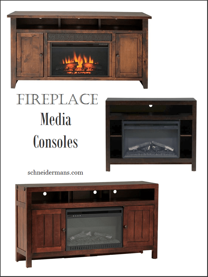 Fireplace media consoles are a great idea! Space saving and ups the cozy factor in the room.
