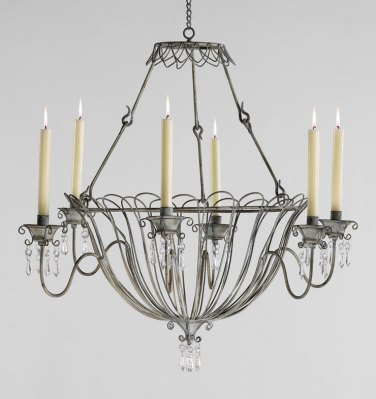 Outdoor Lighting Options - Somerset Candle Chandelier - Schneidermans {the blog}