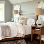 guest bedroom with cozy layered bedding