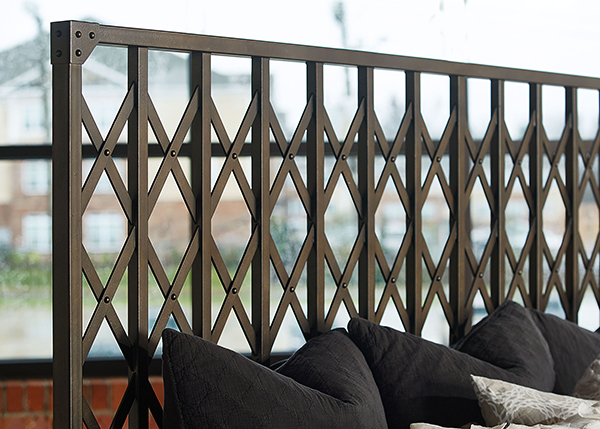 Such Beautiful Detail On The Aged Metal Bed In This Industrial Chic Bedroom!