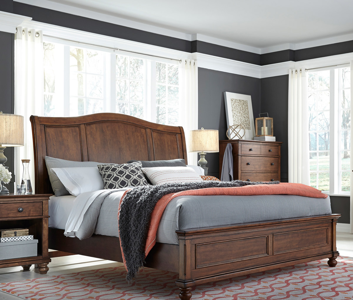 Grey Walls Brown Bedroom Furniture