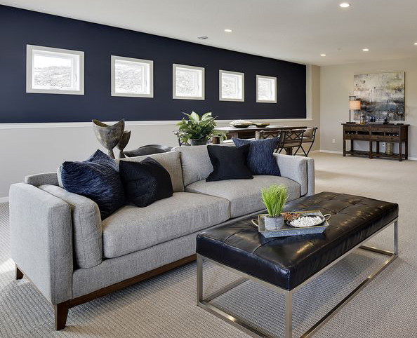 blue accent wall in living room navy blue paint colors schneiderman s the 24665