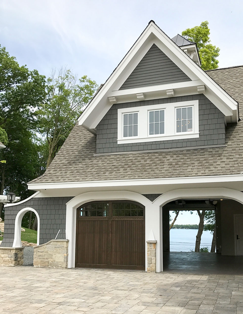 Artisan home tour luxury lake cottage garage with a view