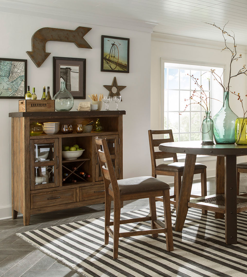 Furniture trend Interior Design Dining Room With Rustic Furniture White Walls Striped Rug Herringbone Floor And Spoga Gafa Reasons To Embrace The Rustic Trend Schneidermans the Blog