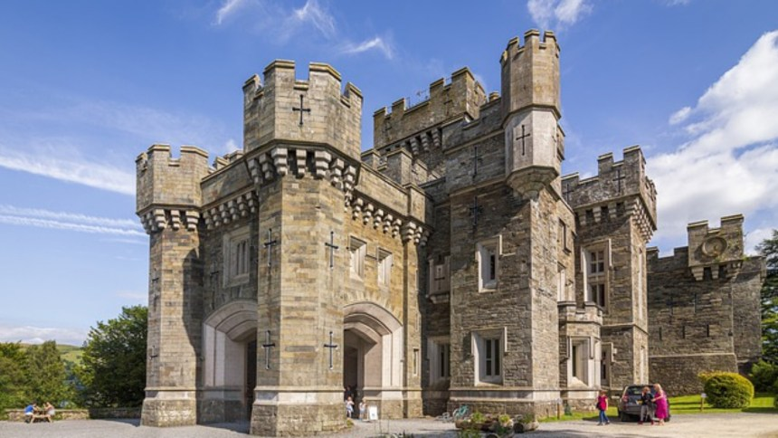 Castles and historic places of interest are aplenty throughout the UK, this is Wray Castle on the shores of Lake Windermere.