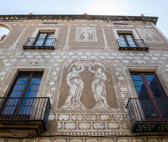 Sgraffito Exterior Gothic Quarter Barcelona Spain