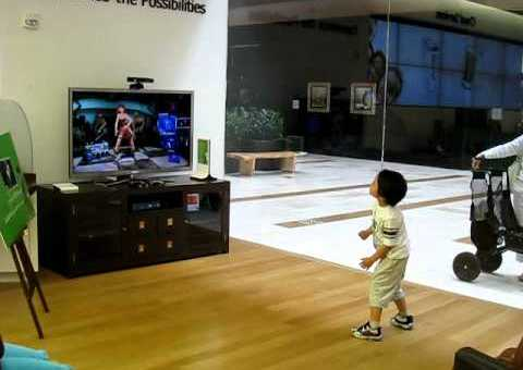 Kid Playing Dance Central