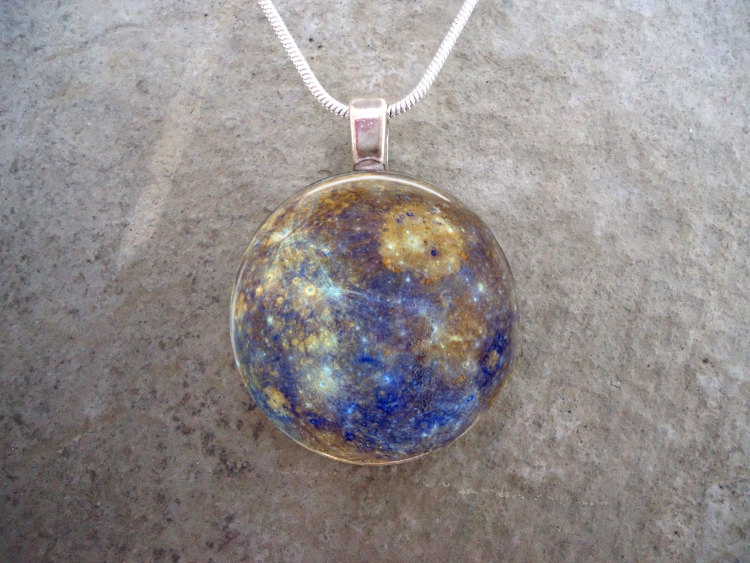 Astronomy necklace by Eryn Driscoll