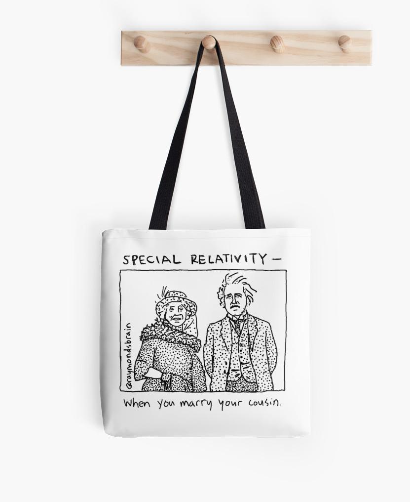 Special Relativity tote by Raymond Nakamura