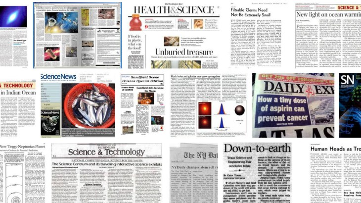 science newspaper headlines