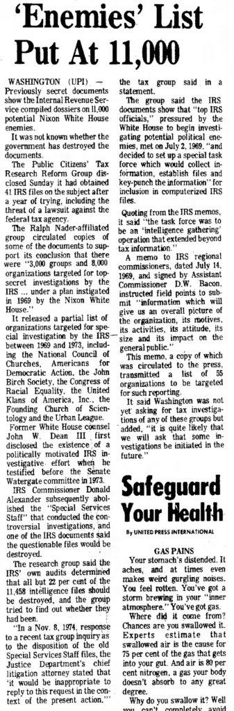 lebanon daily news mon nov, 18 1974