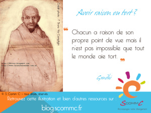 12.03.22 citation gandhi tort ou raison