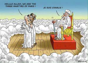 charlie  hello Allah we are the 3 martyrs from paris je suis charlie
