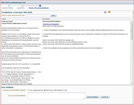 Recommandations of Oracle (no SR)