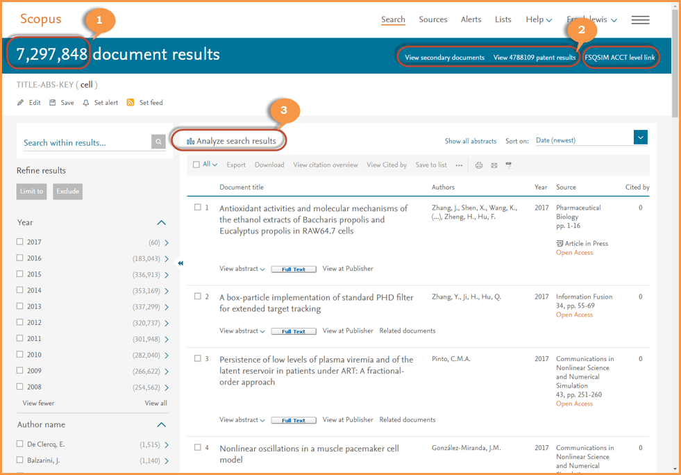 Get To The Right Information Faster With Scopus Search Results Page Improvements  Elsevier