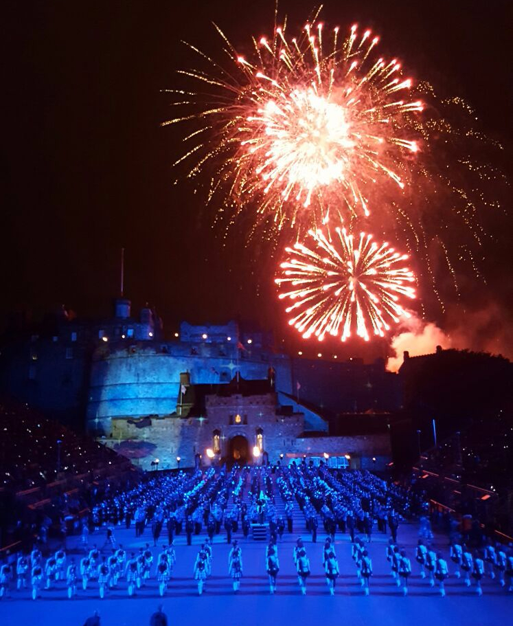 Fireworks at the Royal Edinburgh Military Tattoo - Julie Trevisan-Hunter (Scotch Whisky Experience)