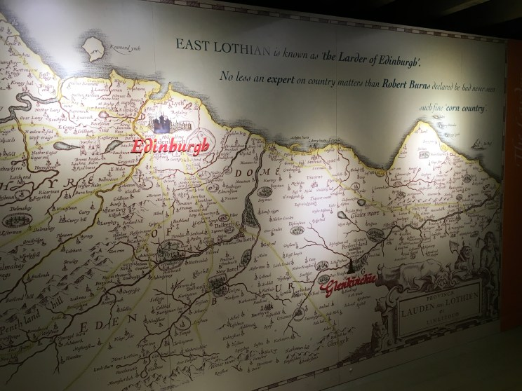 Wall map at Glenkinchie distillery