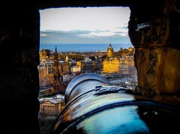 The view from Edinburgh Castle's battlements - photo by Andrew Palmer