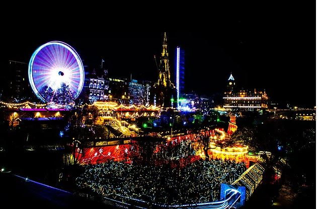 The view from Edinburgh's Christmas market - photo by Andrew Palmer