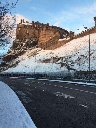 Looking back at Edinburgh Castle, by Eilidh
