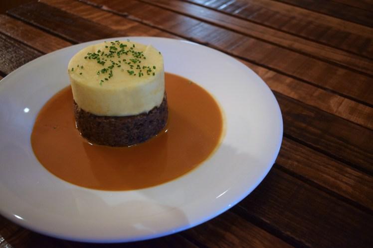 Scottish haggis at the Amber Restaurant and whisky bar, Edinburgh