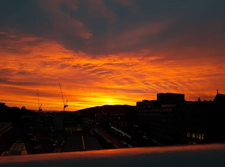 Dawn from Waverley Bridge (credit and copyright: Paula Arthur)