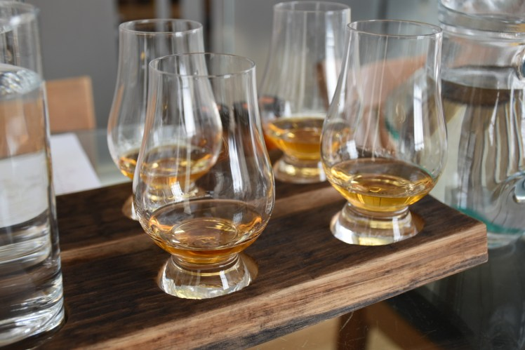 Scotch whisky flight at the Scotch Whisky Experience