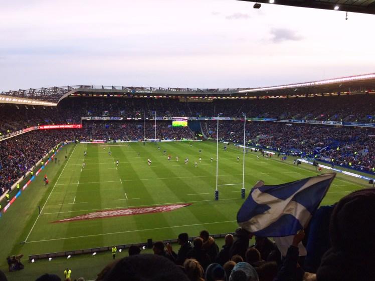 Flying the flag at BT Murrayfield Stadium