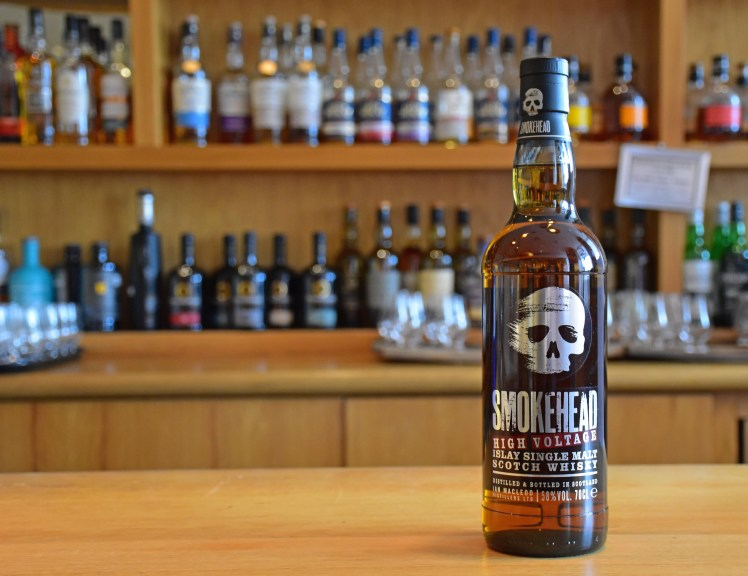 Smokehead High Voltage - whiskies available at the Scotch Whisky Experience, Edinburgh