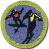 Snow Sports merit badge patch
