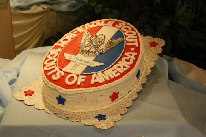 6 Eagle Scout Emblem Cake
