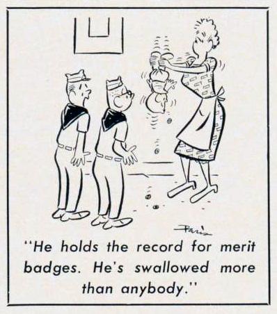 Cartoon-1964-Merit-Badges
