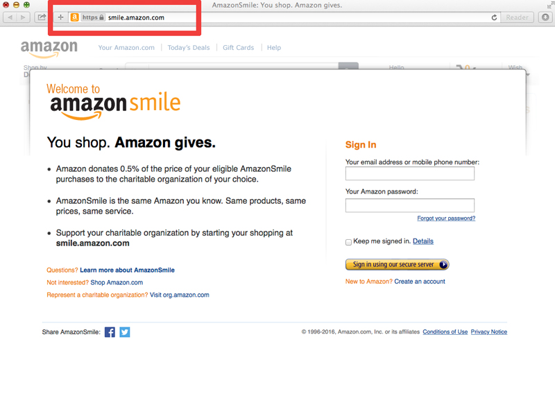 amazon-smile-step-1
