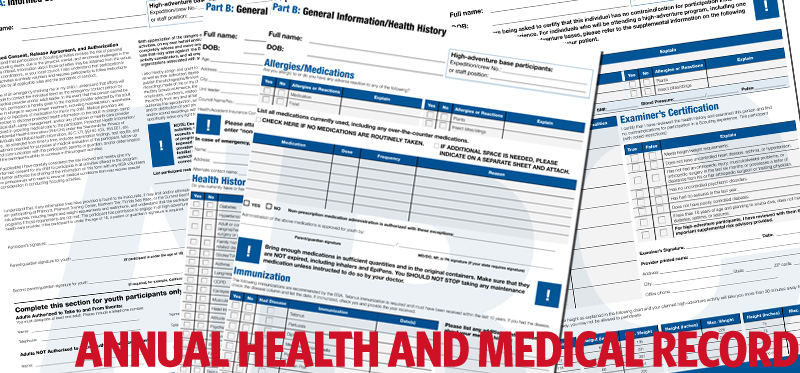 BSA health forms now as easy as A B C Bryan on Scouting – Sample Bsa Medical Form