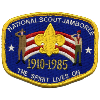 Every national Scout jamboree logo, from 1935 to 2017