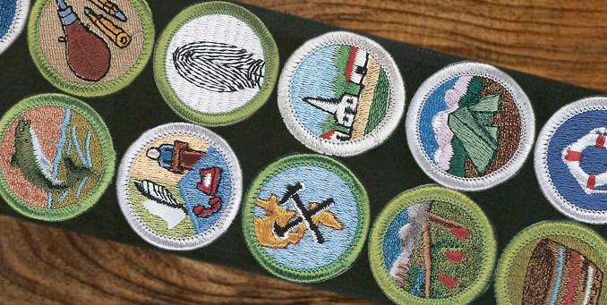 Merit badge emblems get supersized