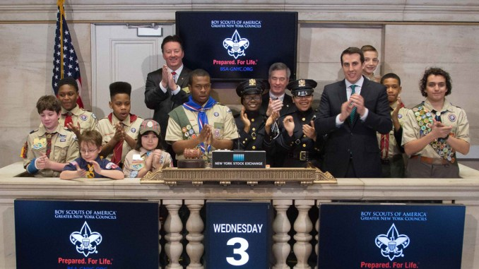 New York Scouts, Explorers ring Opening Bell on NYSE